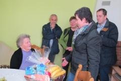 Obisk 90-letnice ge. Amalije Glavan dne 28.3.2015