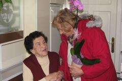 Obisk 90-letnice ge. Ivane Štih dne 26.2.2015