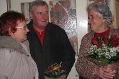 Obisk delegacije pri 90-letnici ge. Klanšek Jožefi, dne 9. 2. 2015