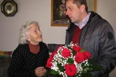 Obisk delegacije pri 90-letnici, go. Grilc Frančiški, 12. 2. 2019