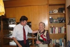 Obisk delegacije pri 90-letnici, go. Velji Hudoklin, 27. 8. 2014