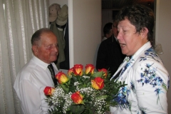 Obisk delegacije pri 90-letniku, g. Egidiju Oblaku, 04. 09. 2014