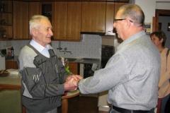 Obisk delegacije pri 90-letniku, g. Frančišku Štalec, 04. 09. 2014