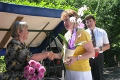 Obisk ekipe pri ge. Amaliji Krajnc, 17. junija 2012