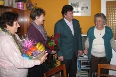 Obisk ekipe pri ge. Jožefi Novinec, 29. 1. 2013
