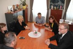 Obisk ministrice za obrambo RS, Andreje Katič na občini, 11.6.2015