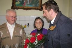 Obisk pri 90-letniku g. Alojzu Kramžar, Žebnik 54, ki je 13. 2. 2016 praznoval 90. rojstni dan