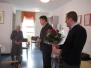 Obisk pri ge. Pavli Gregorčič, ki je 3.1.2016, v Domu Upokojencev Loka praznovala 90. rojstni dan
