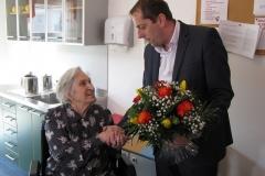 Obisk pri go. Ljudmili Trebše, ki je 12. 2. 2017 praznovala 90. rojstni dan