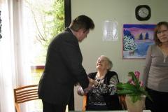 Obisk pri go. Mariji Golob, ki je 5. 3. 2017 praznovala 90. rojstni dan