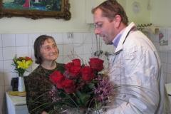 Obisk pri go. Mariji Kramžar, ki je 30. 9. 2016 praznovala 90. rojstni dan
