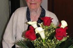 Obisk pri go. Mariji Mihelič, ki je 2. 7. 2016 praznovala 90. rojstni dan