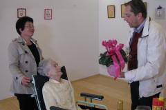 Obisk pri go. Mariji Šušteršič, ki je 29. 9. 2016 praznovala 90. rojstni dan