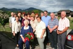 Obisk župana z ekipo pri ge. Olgi Sotlar, 20. julij 2011