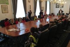 Otroci iz vrtca Radeče obiskali župana Tomaža Režuna, 12. 11. 2018