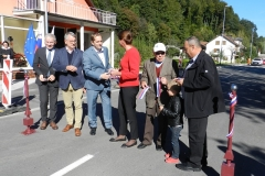 Otvoritev modernizirane ceste in pločnika skozi Jagnjenico, 26. 9. 2018