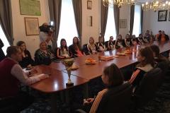 Sprejem mažoret Kluba mažorete RAP Radeče pri županu, 2. 11. 2018