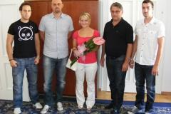 Sprejem svetovne podprvakinje v speed badmintonu Jasmine Keber pri županu