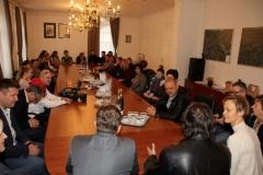 Sprejem učiteljev GŠ Virovitica pri županu, 25. 11. 2016